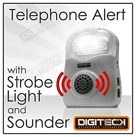 DGT024 FLASHING Telephone CALL ALERT RINGER Phone Amplifier Device Loud Speaker Impaired HEARING AID LIGHT for Elderly/Noisy