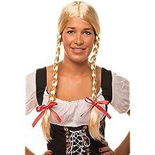 Perücke 60s Lolita Gelockt Lang mit Schleifchen Karneval Fasching