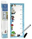 Messlatte für Kinder 73x30 cm Piraten selbstklebend inklusive Folienstift zum bemalen