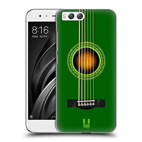 Head Case Designs Vert Guitare Acoustique Étui Coque D'Arrière Rigide Pour Xiaomi Mi 6