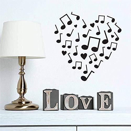 e Ornamente Form Music Note Love Vinyl Wandaufkleber für Süße Wohnzimmer Kunst Aufkleber Wandbilder42 * 42 cm ()