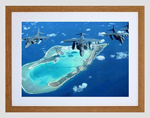R JET MARINE CORPS STATION IWAKUNI ISLAND ART PRINT B12X4848 (Marine Corps Dekorationen)