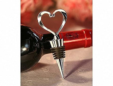 Heart shape silver Wine Bottle Stopper