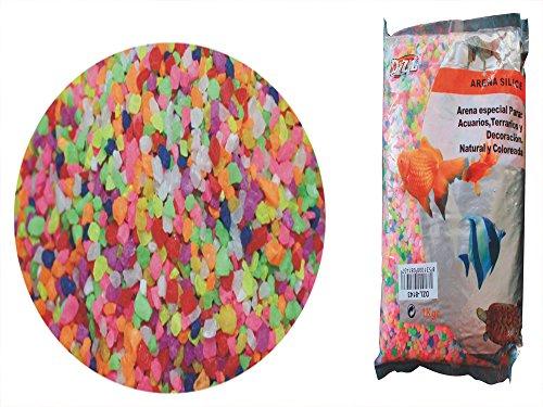 DZL Petites pierres colorées pour Aquarium 1 kg.