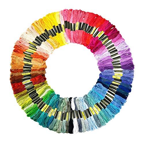TOYANDONA 100 stücke Stickgarn Kreuzstich Mehrfarbige Stränge Kreuzstich Druck Handwerk Kits Werkzeuge Freundschaft Armband String