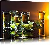 Tequila con calce Formato: canvas 120x80auf, XXL Immagini enormi completamente Pagina con la barella, incorniciatura sulla foto muro con cornice, più conveniente che dipinti ad olio e immagine, nessun manifesto o locandina