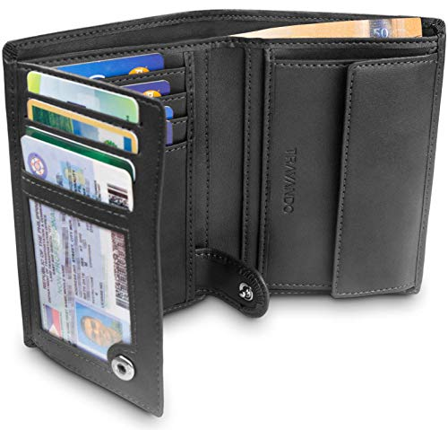 TRAVANDO ® Mens Wallet Black