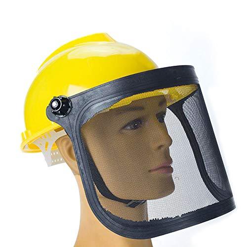 Kettensägen-Schutzhelm, Rasenmäher-Schutzmaske Helm-Schutzmaske Garten-Metallvisier 180 Grad Verstellbarer Gehörschutz