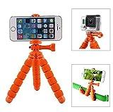 Fotopro RM-95-O - Mini trípode Flexible, con Soporte para Smartphone/cámaras de acción, Color Naranja