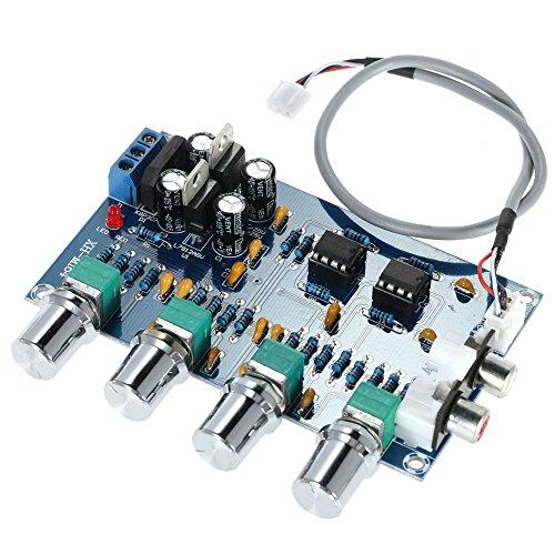 KKmoon NE5532 Verstärker-Brett 12-24V AC duale Stromversorgung/ 5 W / 4 Audiokanäle/ Stereo Vorverstärker Ton Platte Board