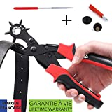 Takit PP1 - Hole Punch Plier, Revolving Heavy Duty Leather Hole Punching Tool for Belts, Purses, Watch Bands and More, 6 Sizes- 2mm, 2.5mm, 3mm, 3.5mm, 4mm, 4.5mm