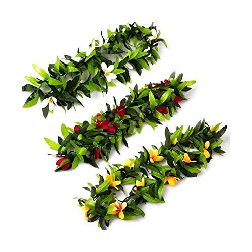 3pcs Hawaiian Kranz Tropical Artificial Blatt-Blumen-Party Lei für Festival-Dekoration Regard