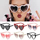Clearance Sale!OverDose Ins Hot Women Heart-shaped Shades Sunglasses Integrated UV Glasses(#1)