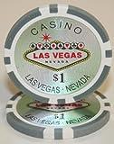 100$1las Vegas 14gram laser Graphic Poker chips