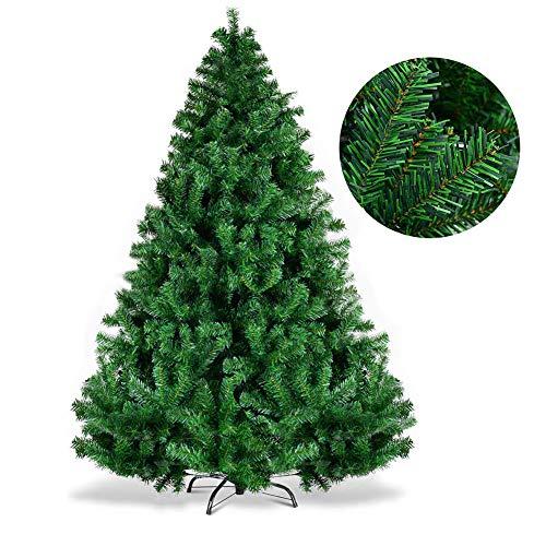 Ncloyn Natural Verde Árbol De Navidad Artificial Pino, Material PVC 7 Ft...