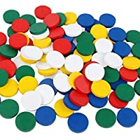 Whiie891203 Puzzle IQ Game Educational Toys,100Pcs/Set Wooden Colorful Disc Chips Mathematics Teaching Aids Toy for Kids Birthday & Christmas Gift Choice