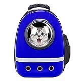 Zuoao Rucksack für Hunde Katze Haustier,Reisen Hunderucksack Airline Travel Approved Haustier Rucksäcke Katzenrucksack mit Flanell Isomatte für Kleine Hunde Katzen Haustiere innerhalb von 7kg (Blau)