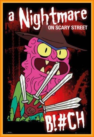 Rick Y Morty Póster con Marco (Plástico) - Scary Terry, Pesadilla En Scary Street (91 x 61cm)