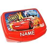 alles-meine.de GmbH Lunchbox / Brotdose -  Disney Cars - Lightning McQueen - Nitro  - Incl. Name..
