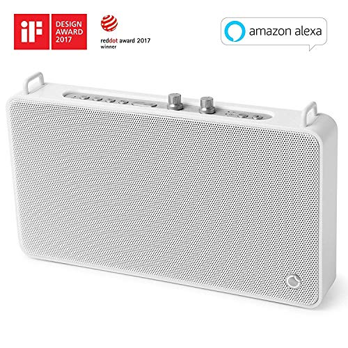 Wifi Speaker with Amazon Built-in Alexa,GGMM 20W Portable Bluetooth  Speaker,Play 1/Multi-Room,Treble + Bass Adjustment,Stereo Sound,Support  Airplay