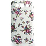 CASEiLIKE� - Floral Rose Classic WHITE Glossy Snap-on hard case back cover for Samsung Galaxy S3 / S 3 / S III / i9300 -- with SCREEN PROTECTOR 1pcs.