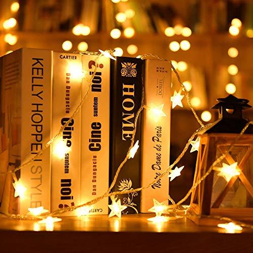 LED-Licht Lichterketten Gaddrt 2M 10 LED Crystal Clear Sternenfee String Licht Hochzeit Party Outdoor Decor Lampe (Gelb)