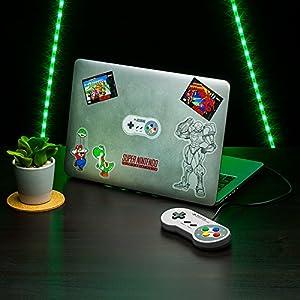 Paladone- Super Nintendo Pegatinas para portátil (PP3961NN)