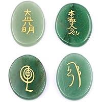 Harmonize 4 piezas de aventurina Reiki Piedras generador de energía Tabla Espiritual Decoración