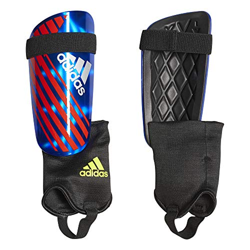 adidas X Reflex Shin Guards, Bold Blue/Active red/Silver met, XS
