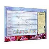 Memoboard 80 x 60 cm, Planer - Eiswürfel Wasserspritzer - Memotafel Pinnwand - Essenplaner - Übersicht -Wochenplaner - Kochen - essen planen - Familienplaner - Küche - Flur - Wohnzimmer - Esszimmer