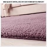 Tappeto Soggiorno Shaggy Moderno Tappeti Porpora Soft Touch Spessore Antiscivolo Carpet (120 x 80 cm)
