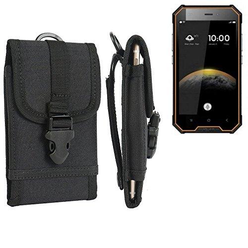 K-S-Trade Handyhülle für Blackview BV4000 Pro Gürteltasche Handytasche Gürtel Tasche Schutzhülle Robuste Handy Schutz Hülle Tasche Outdoor schwarz