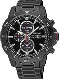 Seiko Herren Chronograph Quarz Uhr mit Edelstahl beschichtet Armband SSC559P1