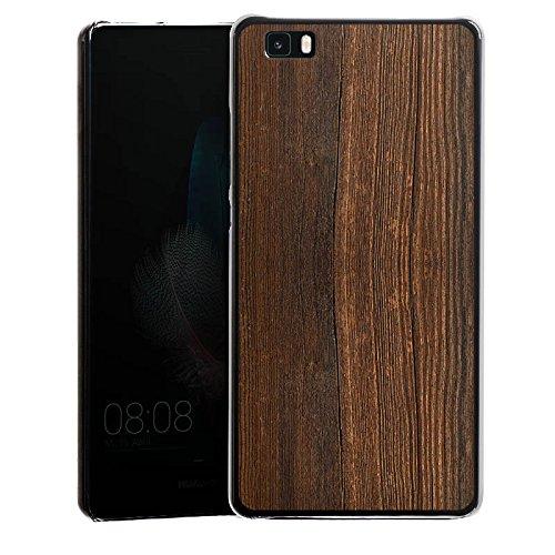 DeinDesign Hülle kompatibel mit Huawei P8 lite (2015-2016) Handyhülle Case Nussbaum Holz Look -