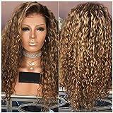 Alexsix Frauen-Dame-Perücke-langes gelocktes Haar-Hochtemperatur-Draht-Mode für Partei Cosplay