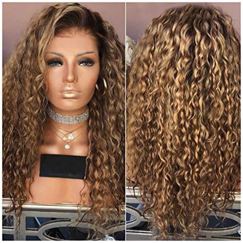 Alexsix Frauen-Dame-Perücke-langes gelocktes Haar-Hochtemperatur-Draht-Mode für Partei ()