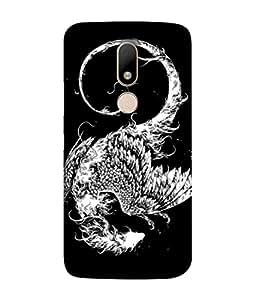 PrintVisa Designer Back Case Cover for Motorola Moto M (Illustration Design Style Symbol White)