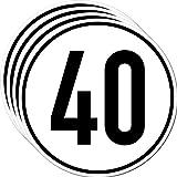 Aufkleber Sticker 40 kmh km/h 20cm Schild Geschwindigkeit für Traktor Schlepper Zugmaschine Multicar Anhänger Fahrzeug (4)
