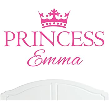 Crown Princess Emma Large Wall Sticker//Vinyl Bed Room//Nursery Art Girl//Baby