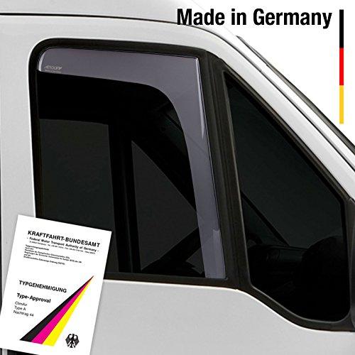 Aerolift Windabweiser vorne mit ABE rauchgrau VW Transporter T4 1990-2003 2-tlg