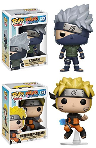 Funko Pop! Naruto: Kakashi + Naruto (Rasengan) - Anime Vinyl Figure Set New