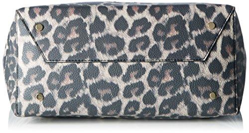 Liu Jo Damen Mimosa Shopping Leopard Tote, 15 x 29 x 32 cm Mehrfarbig (Macula Brown)
