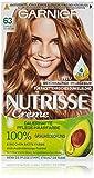 Garnier Nutrisse Creme Coloration Dunkles Goldblond 63 / Färbung für Haare für permanente Haarfarbe (mit 3 nährenden Ölen), 3 Stück