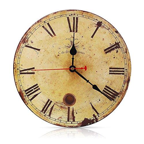 Soledì Orologio da Parete Retro in Legno Numeri RomaniStile Rustico