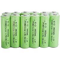 PPOWER 12 confezioni da luce solare AA Ni-Cd 600 mAh Batterie ricaricabili