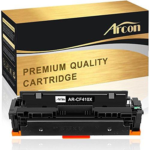 Arcon - Cartucho de tóner compatible para HP 410A 410X CF410A CF410X para HP Color Laserjet Pro MFP M477 M477FDW M477FNW M477FDN M452DN M452DW M452NW M377 M377DW, color negro