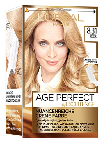 L\'Oréal Paris Excellence Age Perfect 8.31 goldblond 1er Pack (1 x 1 Stück)