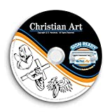 Christian Religious-Jesus Clipart-Vector Clip Art Vinyl Cutter Plotter Bilder T-Shirt Grafik CD