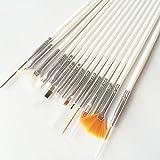 Anne porque portátil hölzerne UV Gel Nail Art Painted Pen Brush Set para Beauty Nail Tool (Color Blanco)