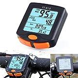 rungao Fahrrad Tacho Kilometerzähler Temperatur Display Drahtlose Datenübertragung Wasserdicht Multi-Funktion